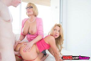 Moms Bang Teens Melanie Monroe & Katerina Kay in Play Date with Jake Jace 8