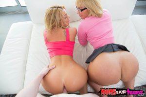 Moms Bang Teens Melanie Monroe & Katerina Kay in Play Date with Jake Jace 9