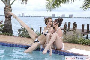 Naughty America Christiana Cinn & Mila Blaze in 2 Chicks Same Time with Levi Cash 1