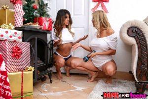 Moms Bang Teens Alexis Fawx & Sophia Leone in Sneaky Santa 3