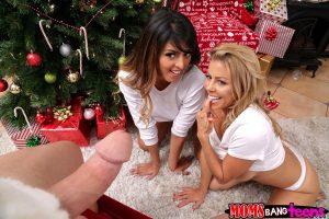Moms Bang Teens Alexis Fawx & Sophia Leone in Sneaky Santa 7
