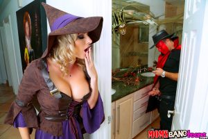 Moms Bang Teens Cory Chase & Anastasia Rose in Halloweeny 2