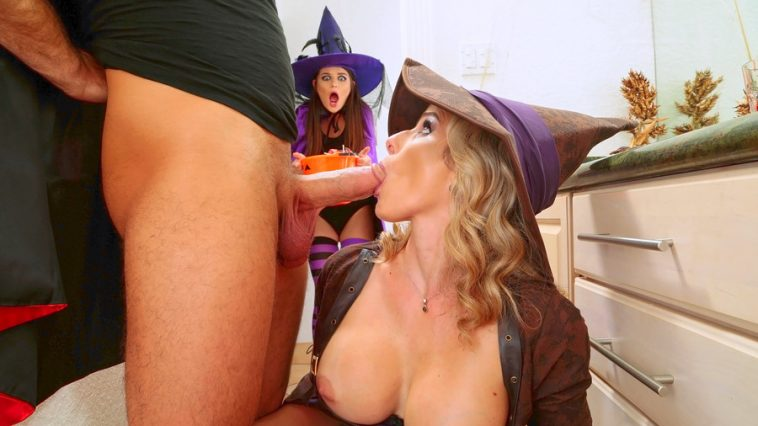 Moms Bang Teens Cory Chase & Anastasia Rose in Halloweeny 5